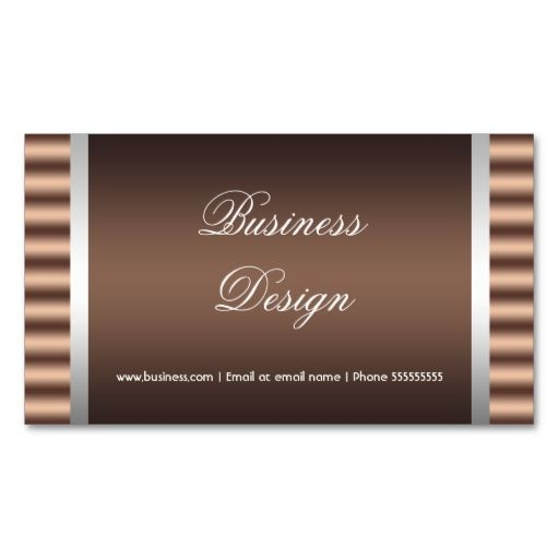 Elegant Black Chocolate Brown Gray Silver Design Business Cards