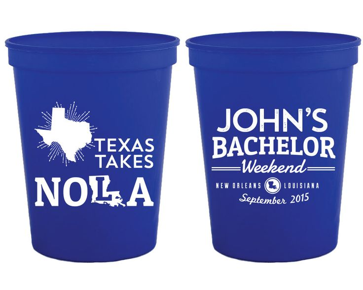 New to SipHipHooray on Etsy: Bachelor Party Cups NOLA Bachelor Party Gift Guys Trip Favor NOLA Texas Bachelor Party Cups Grooms Trip Favors Groomsmen Gifts 1187 (75.00 USD)