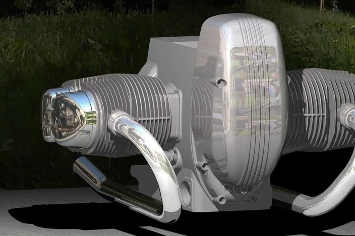 Engine airhead beemer IN WORK, Motor BMW R100