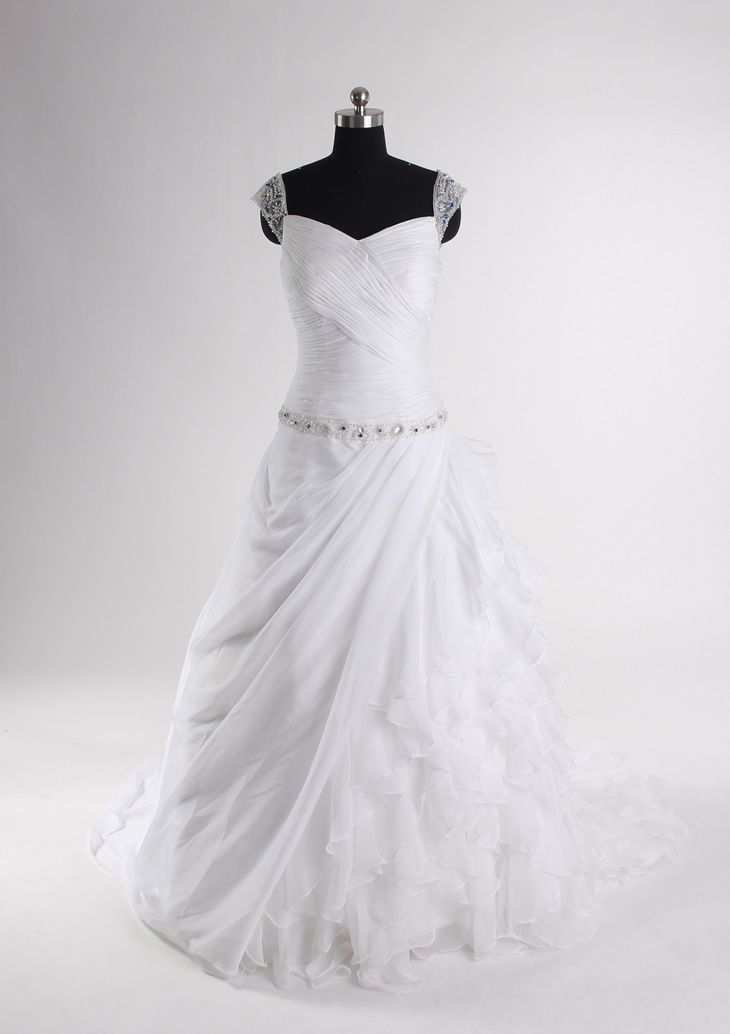 #chiffon wedding dress