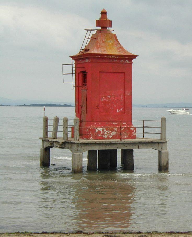 Faro Della FinanzaLighthouse in Lignano Sabbiadoro Adriatic Seacoast Friuli-Venezia Giulia Italia +45.698473, 13.154687