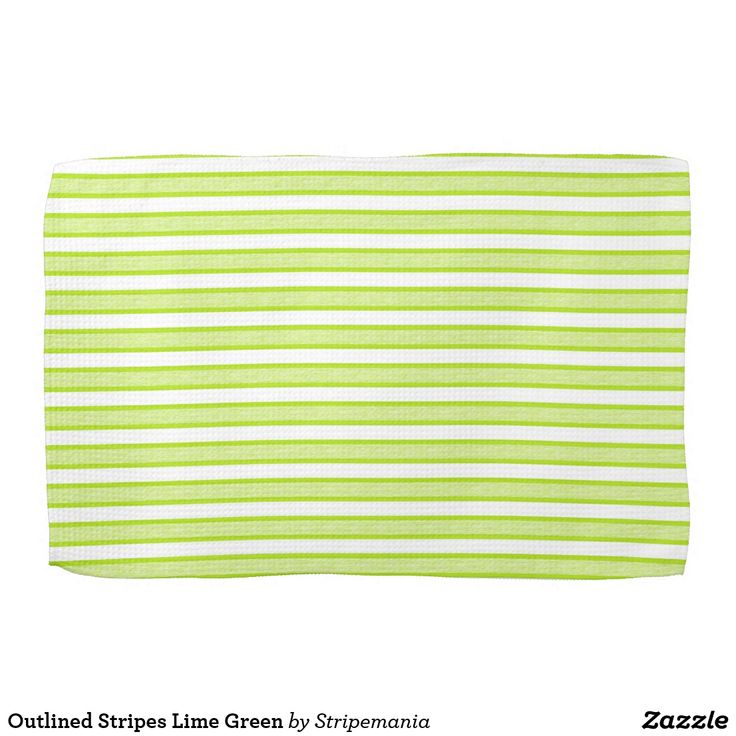Outlined Stripes Lime Green Hand Towel #towel #kitchentowel #kitchentools #kitchendesign #kitchendecor #homedecor #interiordesign