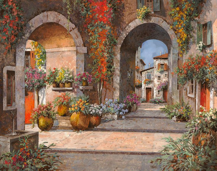 Archi E Sotoportego by Guido Borelli - Archi E Sotoportego Painting - Archi E Sotoportego Fine Art Prints and Posters for Sale