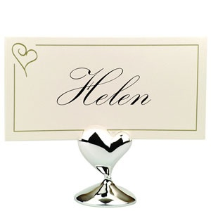place card holders contemporary heart £15.99 12pk