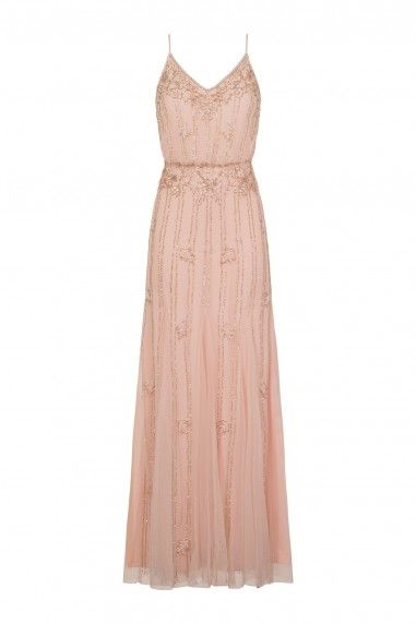 59b71ac182f2 Lace & Beads Keeva Nude Maxi Dress   Wignall Wedding   Nude maxi ...