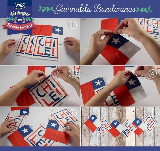 Guirnaldas Banderines con Servilletas ELITE FIESTAS PATRIAS 2014