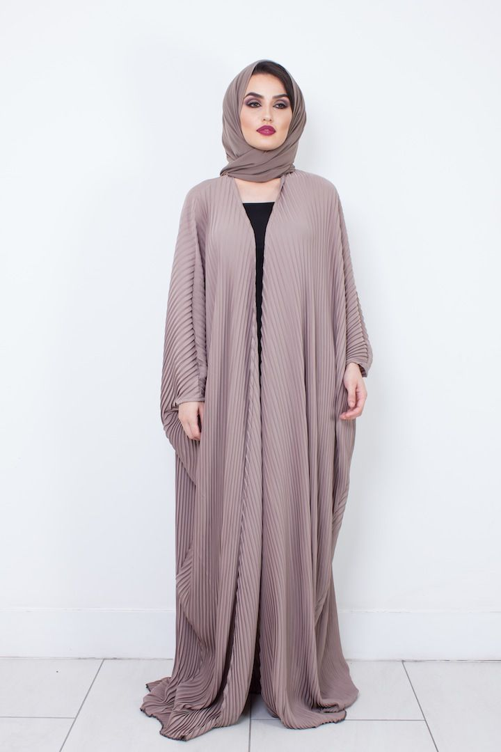 DUSKY PINK PLEATED ABAYA | Modest Rail