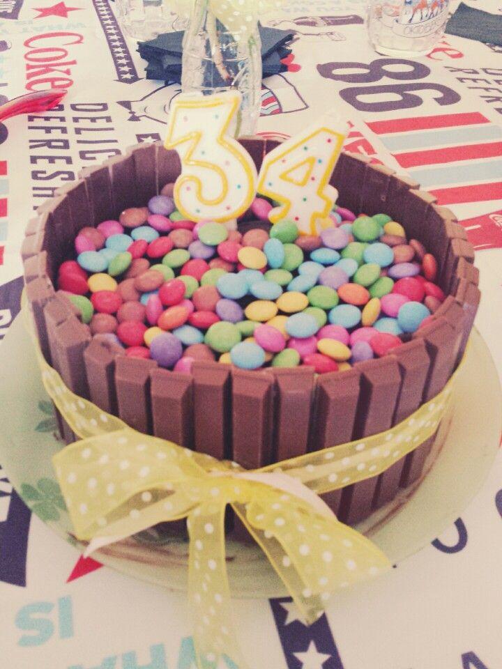 Smarties kitkat birthdaycake choccolate