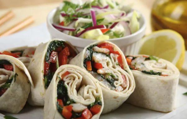 Wrapy orientalne #tortilla #cooking #tasty