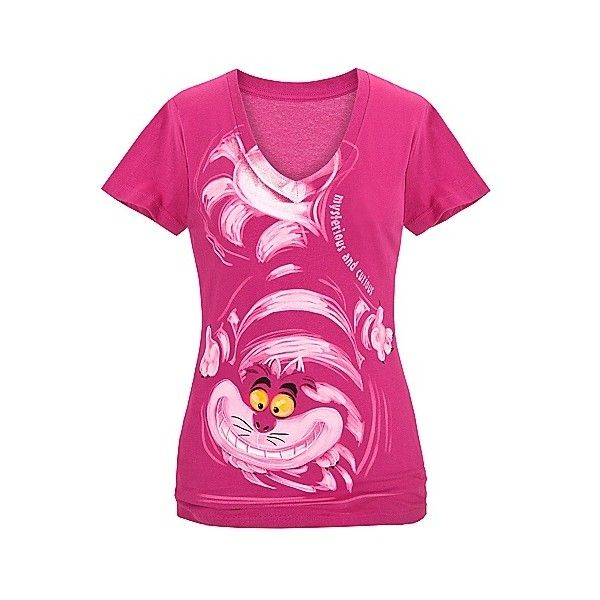 Curious Cheshire Cat Tee for Women | Clothes | Adults | Disney Store ❤ liked on Polyvore