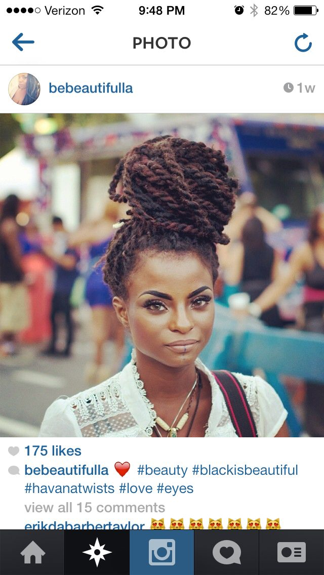 Havana twists - To learn how to grow your hair longer click here - http://blackhair.cc/1jSY2ux