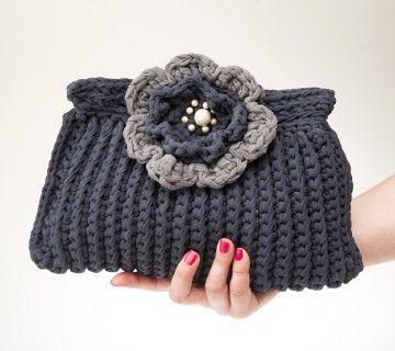 Torebka kopertówka Daisy / Jumbo crochet clutch bag