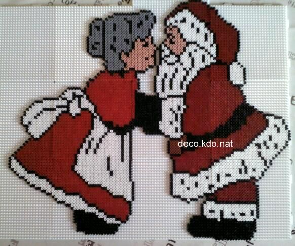Santa and Mrs Claus - Christmas hama perler beads by Deco.Kdo.Nat