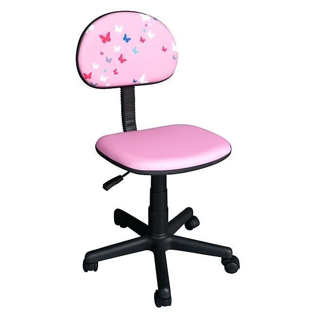 Chaise Bureau Fille Chaise De Bureau Enfant Rose Papillon A