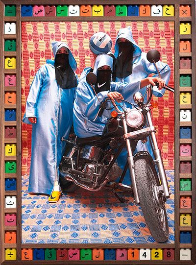 Credit: Hassan Hajjaj/Taymour Grahne Gallery, NY Nikee Rider The girl motorcycle gangs of Morocco