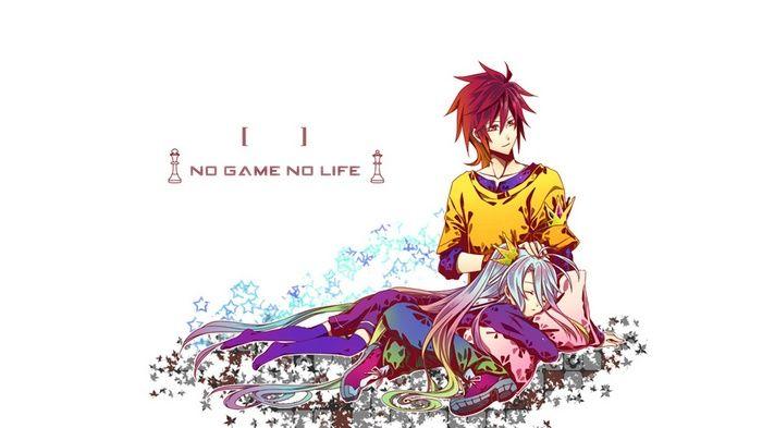 Sora No Game No Life Simple Background Shiro No Game No Life Anime Girls No Game No Life An Animated Wallpapers For Mobile No Game No Life Anime