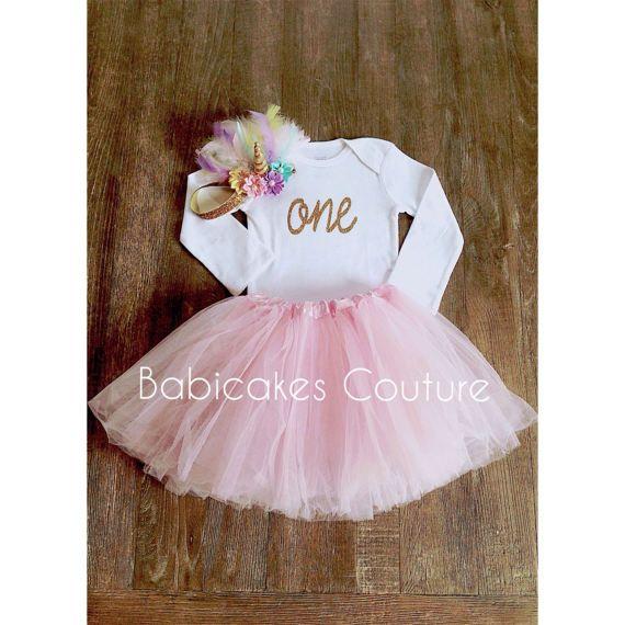 Always Be a Unicorn!  Unicorn 1st Birthday Cake Smash Outfit
