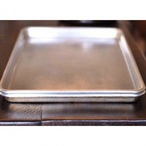 clean nasty baking sheets-sprinkle bakind soda, then peroxide then more baking soda.  let sit several hours, then wipe clean