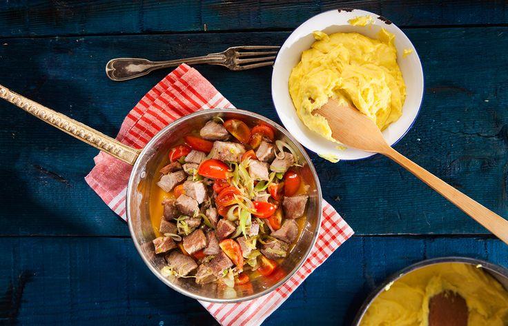 Μακεδονίτικη τηγανιά με χοιρινό και μπούκοβο