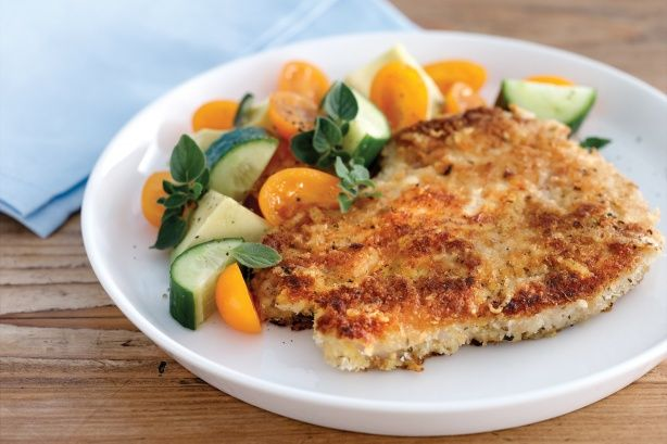 The whole family will love these succulent pork chops covered in a crispy parmesan crumb.