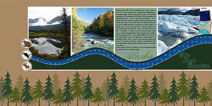alaska scrapbook layouts