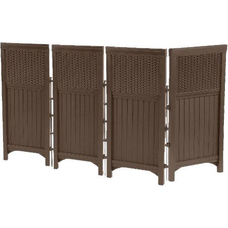 Add privacy to your patio or section off areas of the garden with this timeless screen, featuring 4 panels with beadboard-inspired detailing for classic appe...