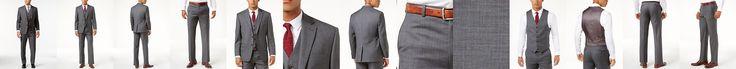 Lauren Ralph Lauren Grey Sharkskin Ultraflex Suit Separates