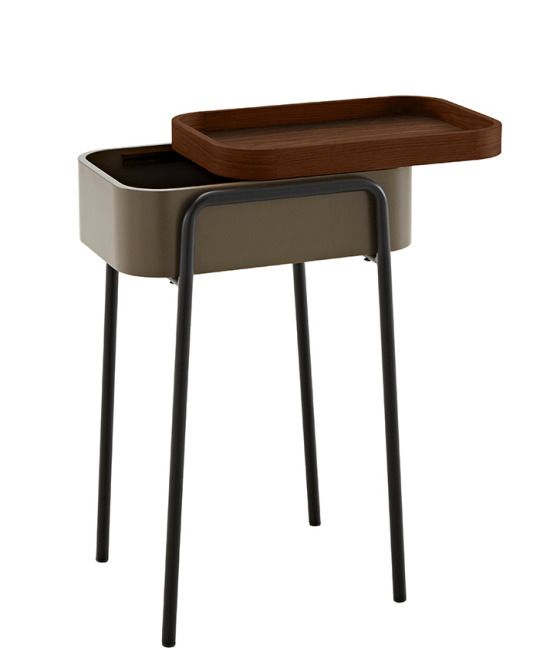 Ligne Rosetu0027s Couliss Side Table Designed By Philippine Lemaire In  Lacquered Wood, Walnut, Lacquered Steel.