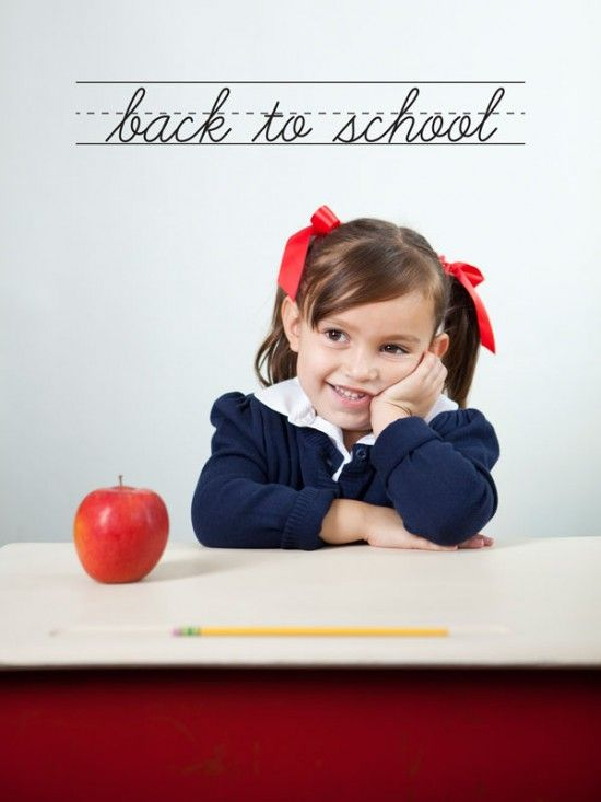 Adorable back to school photoshoot idea. I love the props and background. {Child Photography}