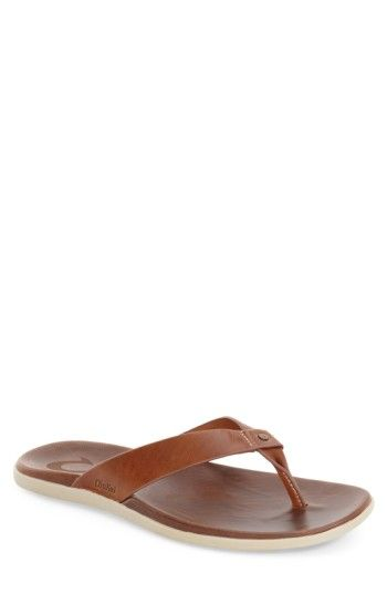 5c9ef822be8 Free shipping and returns on OluKai  Kapua  Flip Flop (Men) at  Nordstrom.com. An anatomically molded PU midsole with a lower-profile  stance is wrap…