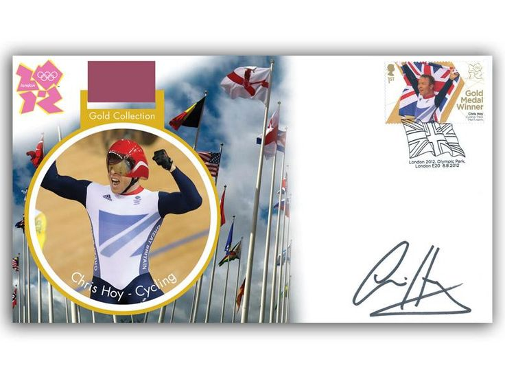 London 2012 Olympic Gold Medal Winners cover. Personally Autographed by Sir Chris Hoy. Track Cycling