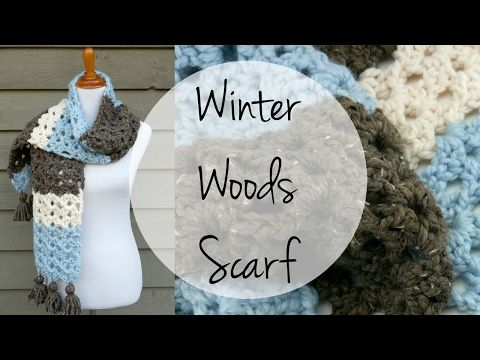 Fiber Flux: Free Crochet Pattern...Winter Woods Scarf