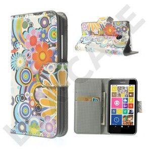 Moberg (Kukka Kuvio) Nokia Lumia 630 / 635 Nahkakotelo