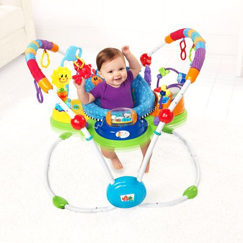 Baby Einstein - Musical Motion Activity Jumper, Blue $88--my son loved this thig. Seat was comfy and he was able to spin pretty easy and of course bounce