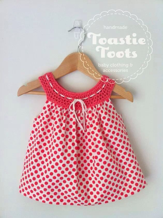 Crochet dress,100% cotton fabric by Toastie Toots