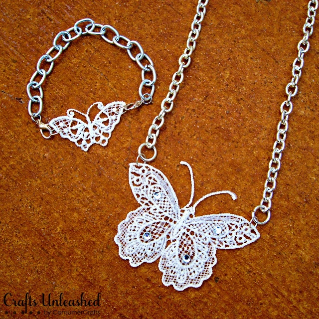 Make Your Own Necklaces And Jewelry At Home: Make Your Own Lace Butterfly Jewelry