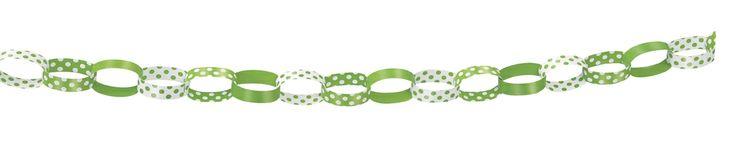 Green Polka Dot Paper Chains - Polka Dot Party Supplies India