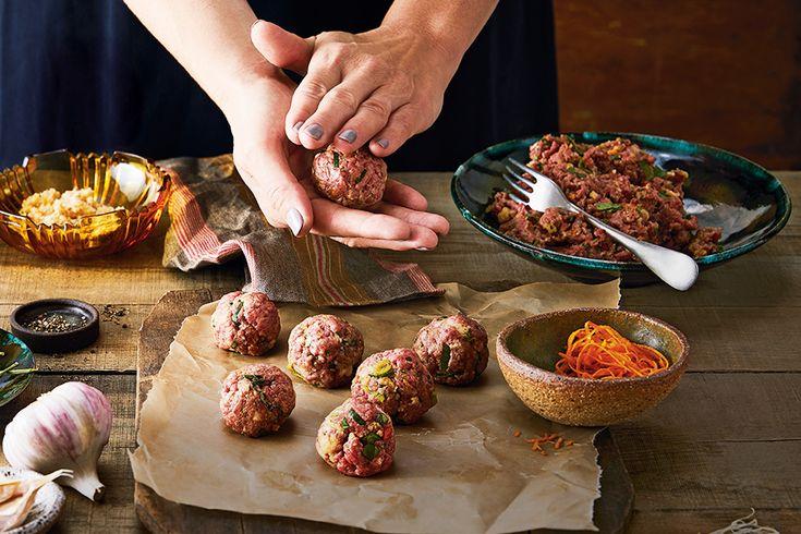 Soy-Glazed Beef Meatballs