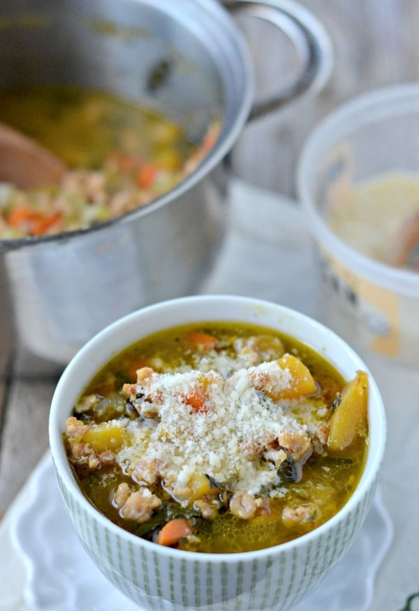 Chicken Sausage, Butternut Squash and Kale Soup - Mountain Mama Cooks