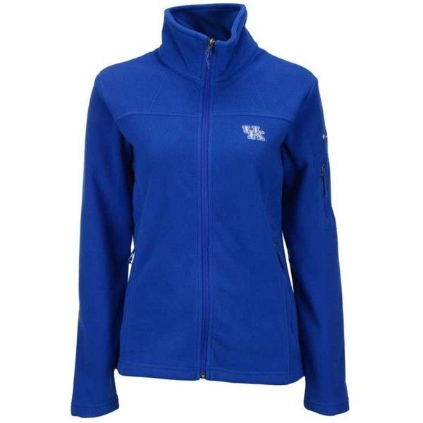 Columbia Women's Kentucky Wildcats Give and Go Jacket ($60) ❤ liked on Polyvore featuring outerwear, jackets, royalblue, logo jackets, fleece lined jacket, columbia, columbia jackets and blue jackets