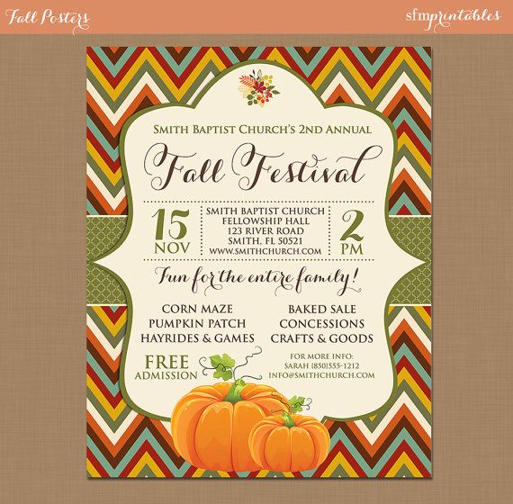 Fall Festival Harvest Invitation - 72.1KB