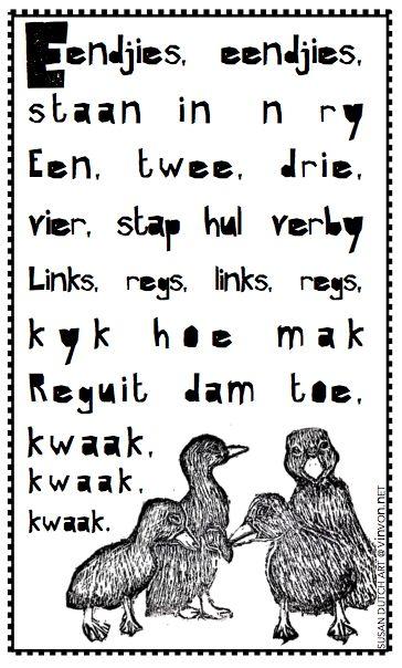 #Afrikaans #rympies # kids #nursery #freebie #nurseryrhyme #kinders #vinvon.net