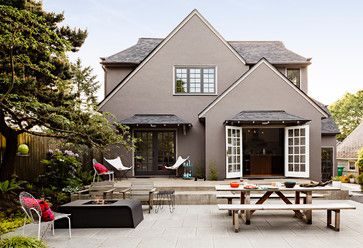 Contemporary Patio Tudor And Exterior Paint On Pinterest