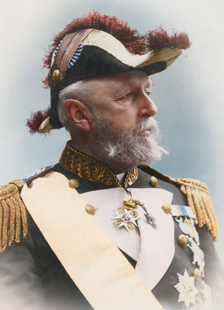 Oscar II, King of Sweden and Norway, 1880. Image credit: realeza.foros.ws (colorized by Sanna Dullaway)