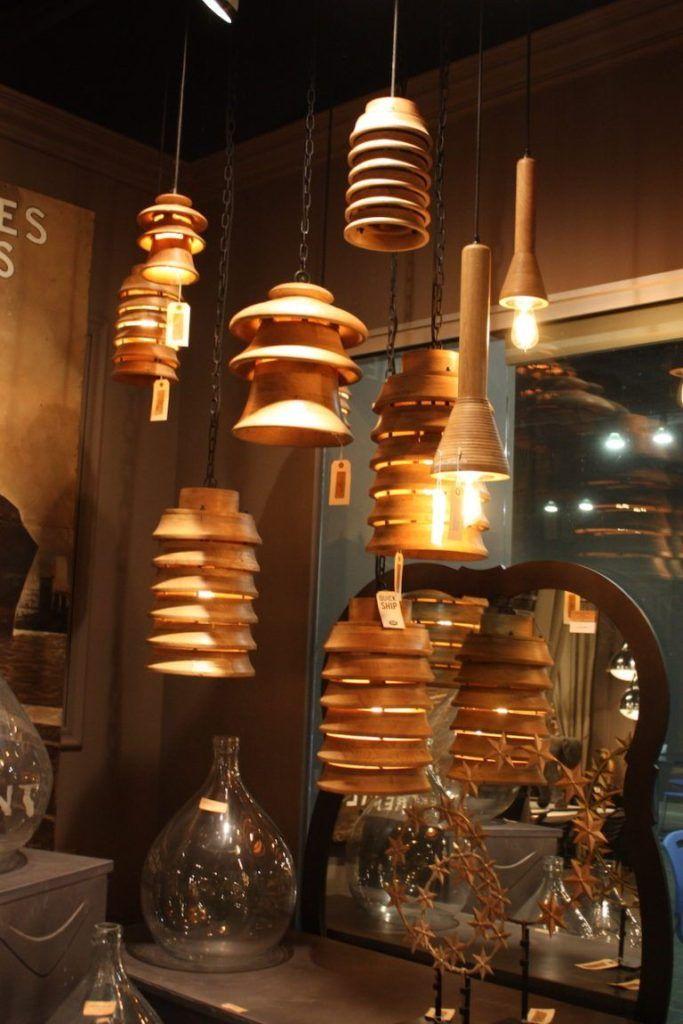 Bobo tiered wooden pendants
