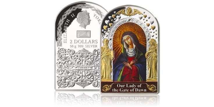 Srebrna moneta Matka Boska Ostrobramska