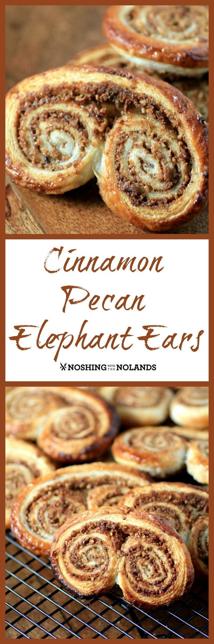 Cinnamon Pecan Elephant Ears by Noshing With The Nolands are the easiest holiday cookie you'll ever make and taste so scrumptious!