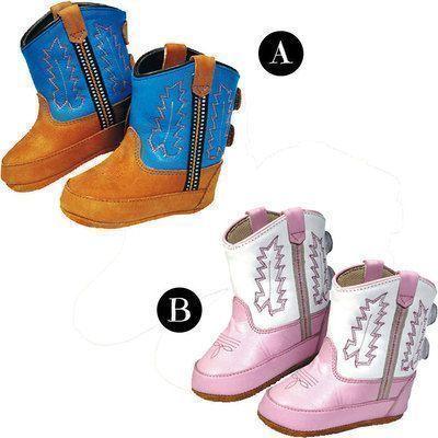 Stivali Old West modello Baby in pelle di alta qualità