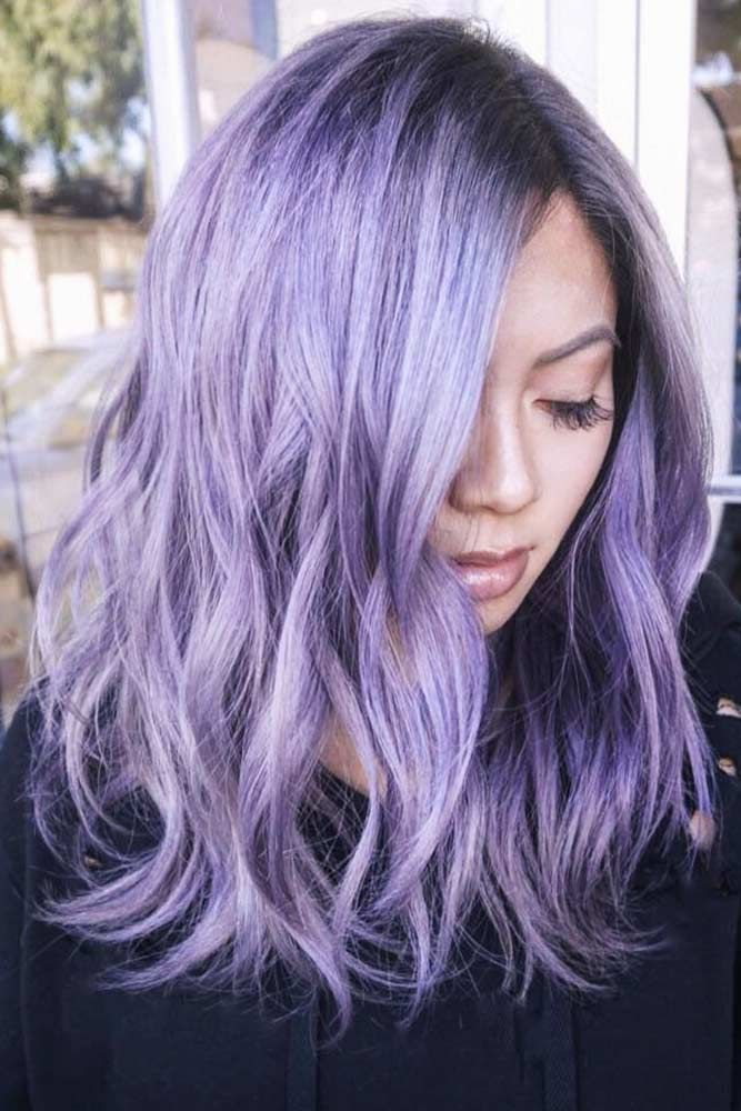 75 Tempting And Attractive Purple Hair Looks Lovehairstyles Com Light Purple Hair Purple Hair Light Hair Color
