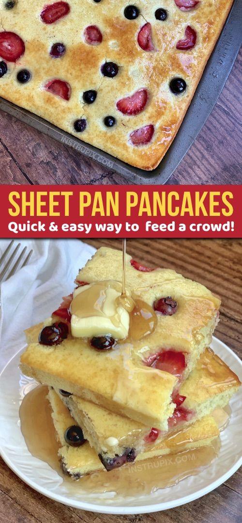 Sheet Pan Pancakes (der beste Weg, um eine Menge zu dienen)